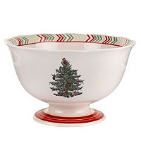 Spode Christmas Jubilee Chevron 7-in. Footed Bowl
