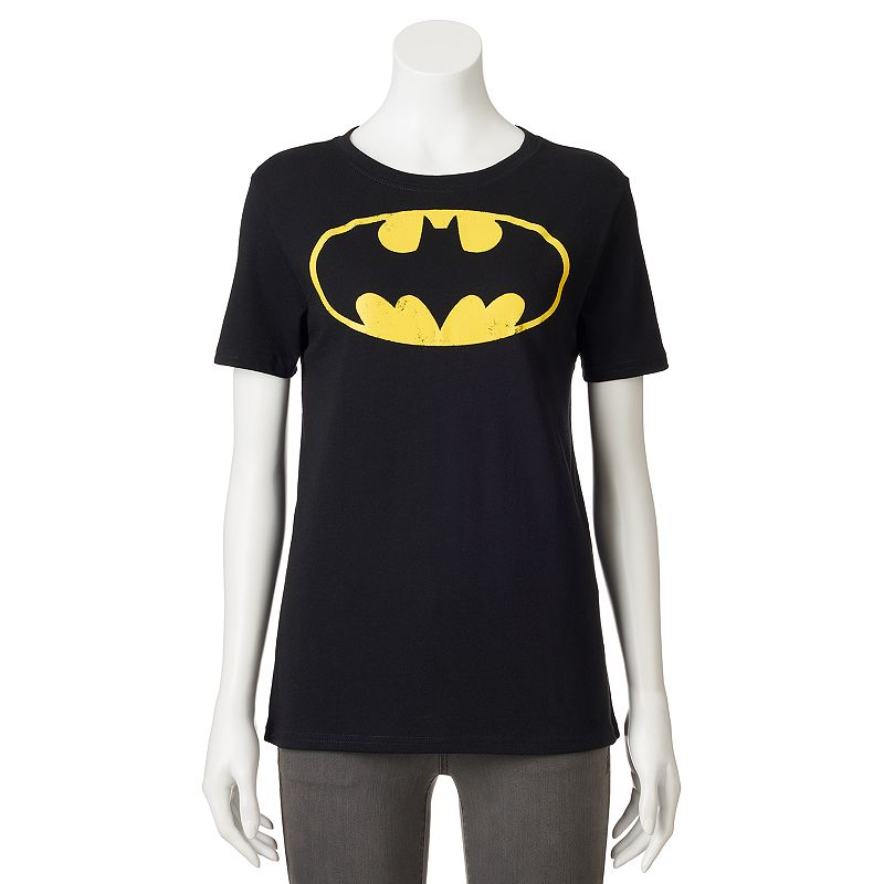 Juniors' DC Comics Batman Logo Boyfriend T-Shirt