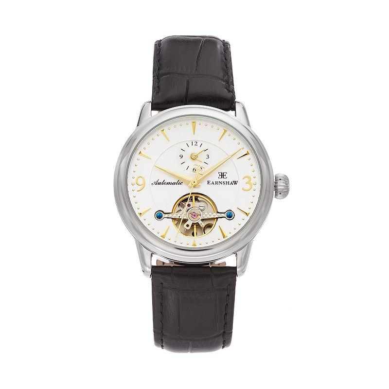 Thomas Earnshaw Men's Regency Leather Automatic Skeleton Watch - ES-8003-03