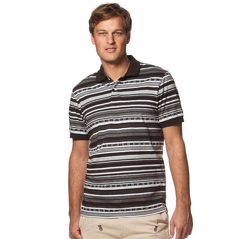 Men's Chaps Classic-Fit Striped Jacquard Polo