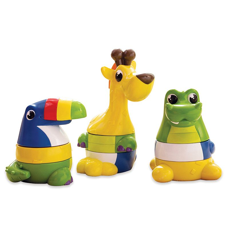 Kiddopotamus 3-pc. Stack the Pack Toys