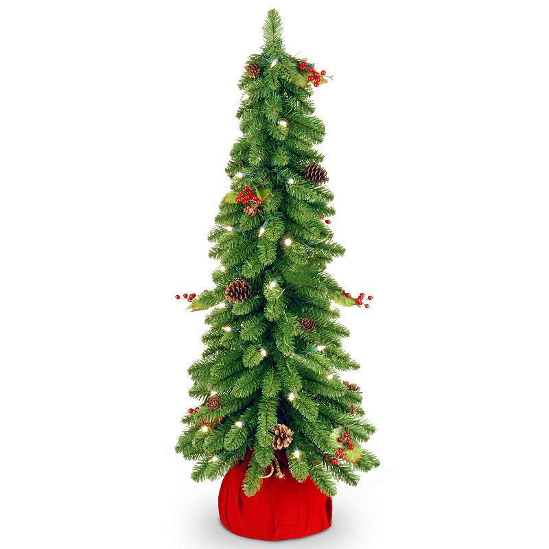 30-in. Pre-Lit Pinecone & Berry Downswept Artificial Christmas Tree