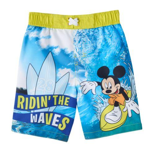 Disney Mickey Mouse Toddler Boy Swim Trunks