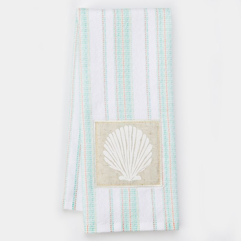 Celebrate Local Life Together Striped Seashell Kitchen Towel
