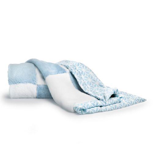 COCALO Faux-Fur Trellis Patchwork Blanket