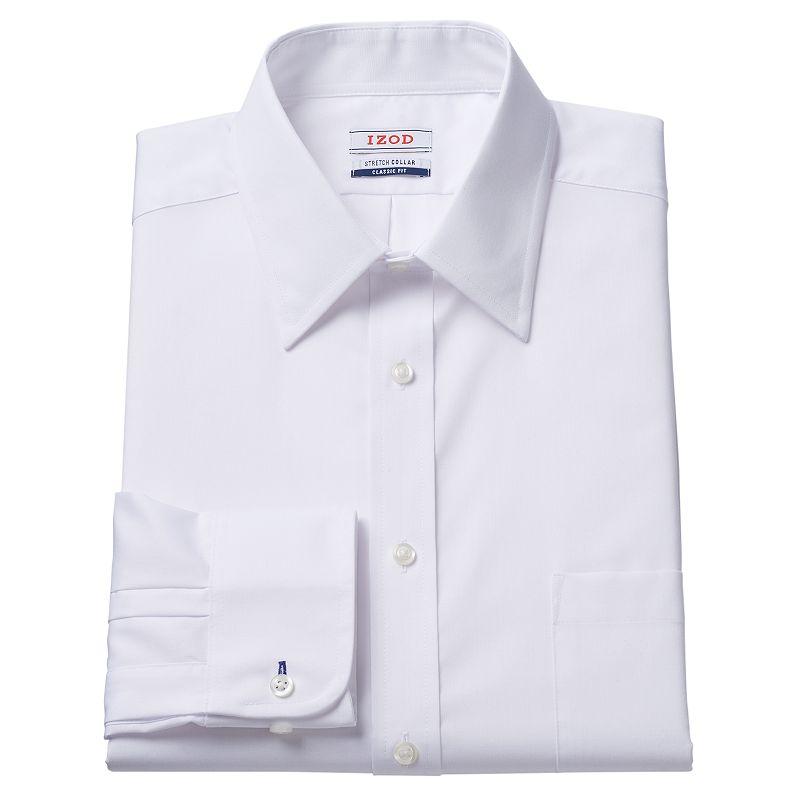 Men's IZOD Regular-Fit Stretch-Collar White Dress Shirt