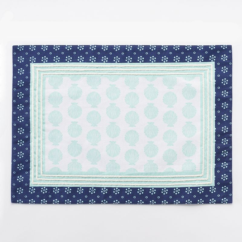 Celebrate Local Life Together Seashell Reversible Placemat