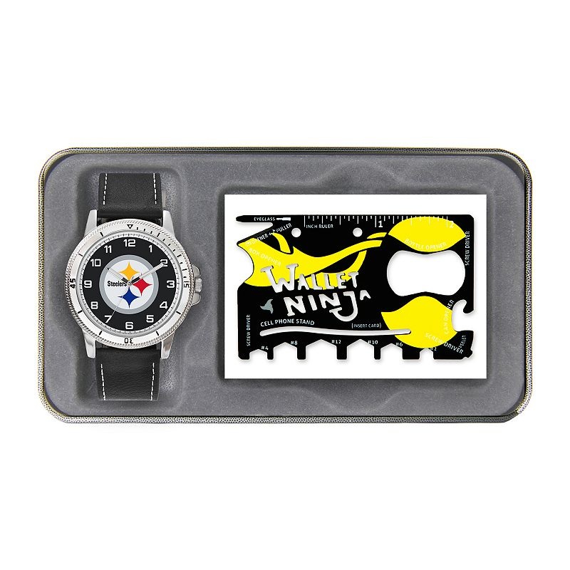 Sparo Pittsburgh Steelers Watch and Wallet Ninja Set - Men