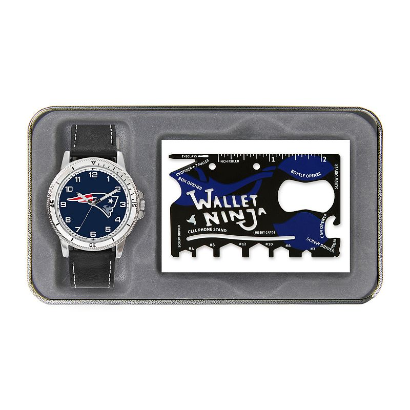 Sparo New England Patriots Watch and Wallet Ninja Set - Men