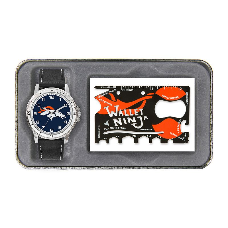 Sparo Denver Broncos Watch and Wallet Ninja Set - Men