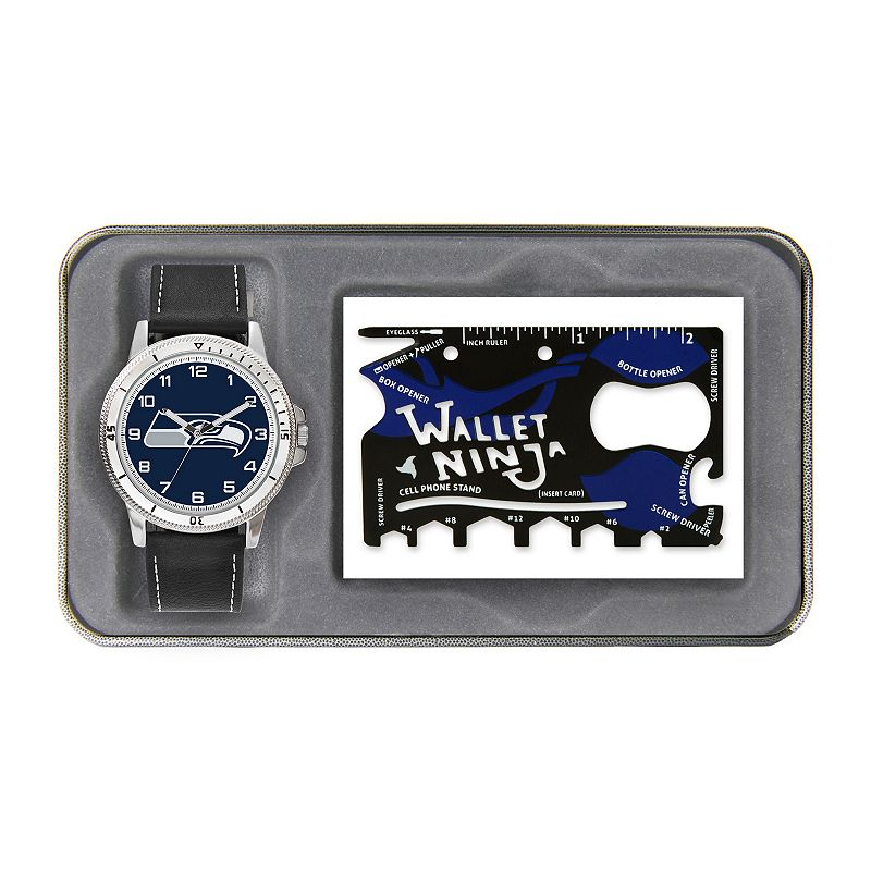 Sparo Seattle Seahawks Watch and Wallet Ninja Set - Men