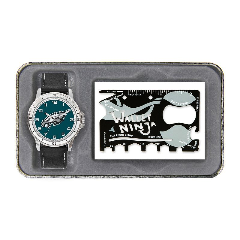 Sparo Philadelphia Eagles Watch and Wallet Ninja Set - Men