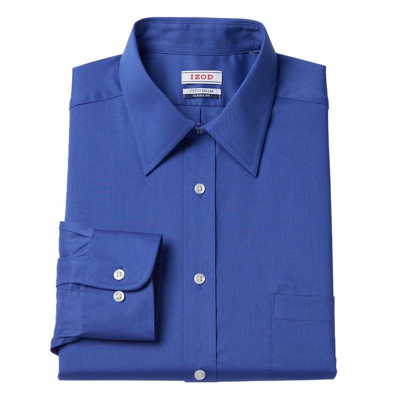Men's IZOD Regular-Fit Stretch-Collar Dress Shirt