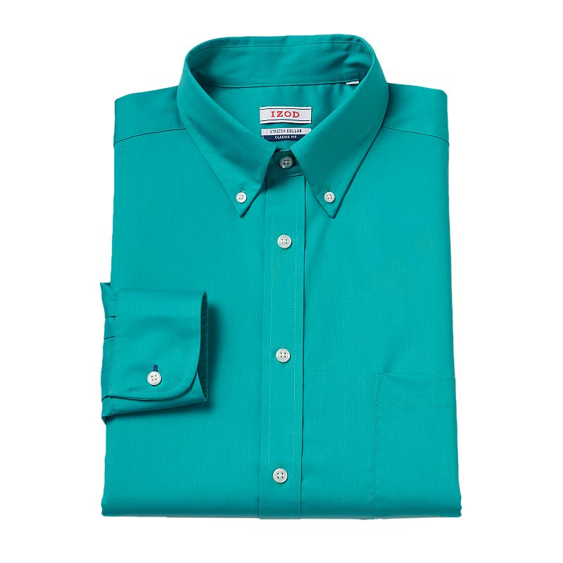 Men's IZOD Regular-Fit Stretch-Collar Dress Shirt