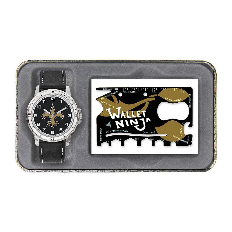 Sparo New Orleans Saints Watch and Wallet Ninja Set - Men