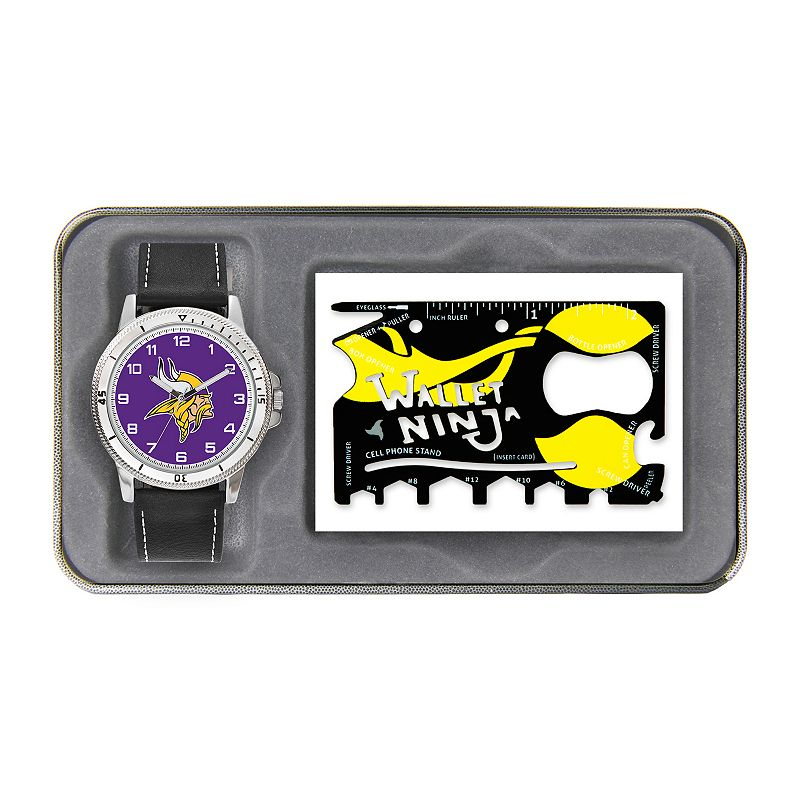 Sparo Minnesota Vikings Watch and Wallet Ninja Set - Men
