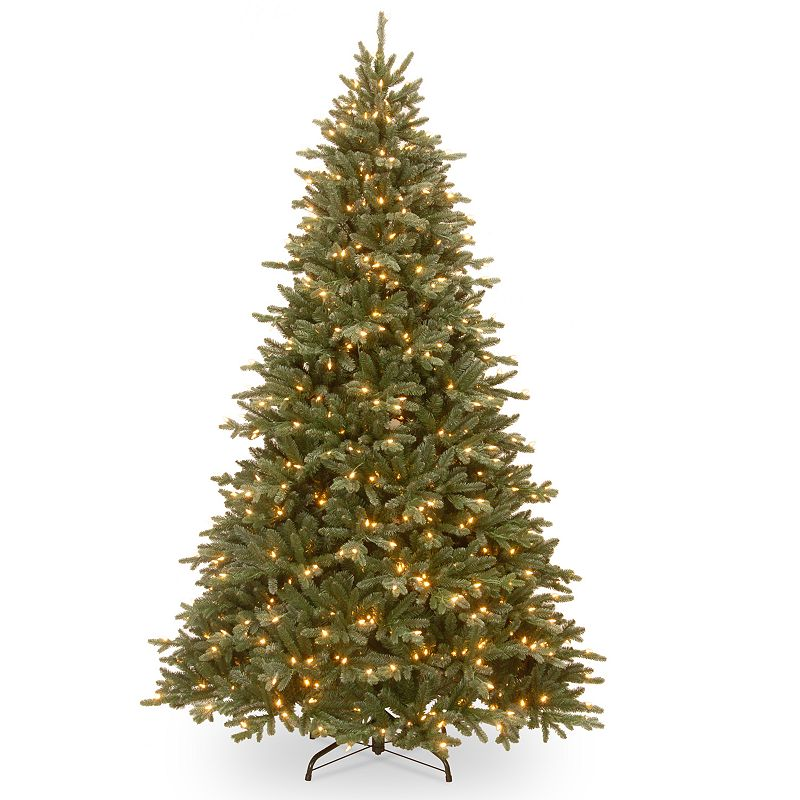 7.5-ft. ''Feel Real'' Pre-Lit Ashfield Frosted Fir Artificial Christmas Tree