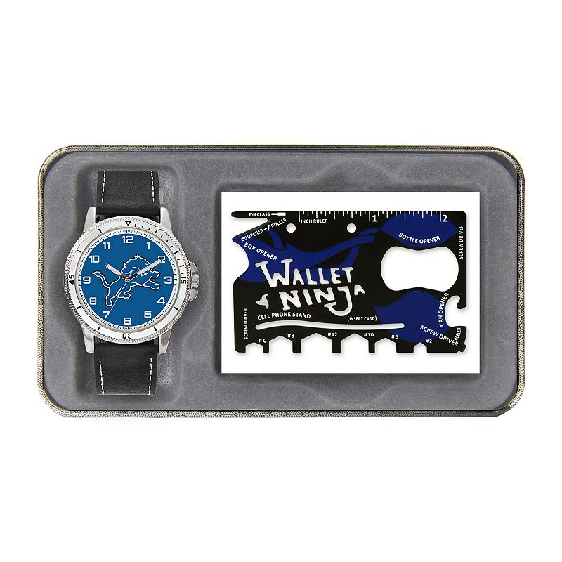 Sparo Detroit Lions Watch and Wallet Ninja Set - Men