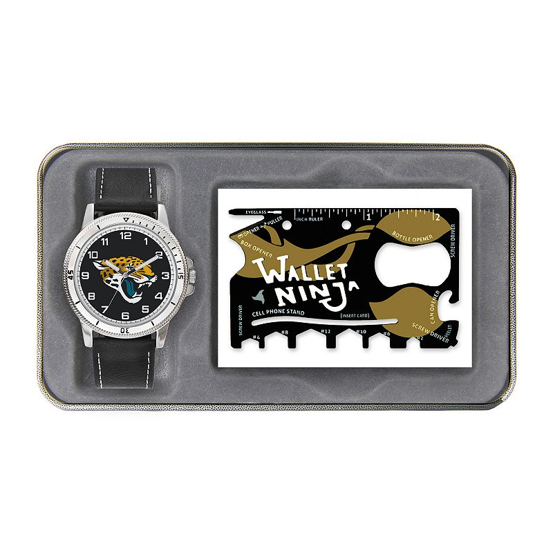 Sparo Jacksonville Jaguars Watch and Wallet Ninja Set - Men