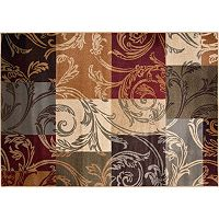 KHL Rugs Transitional Floral Squares Rug