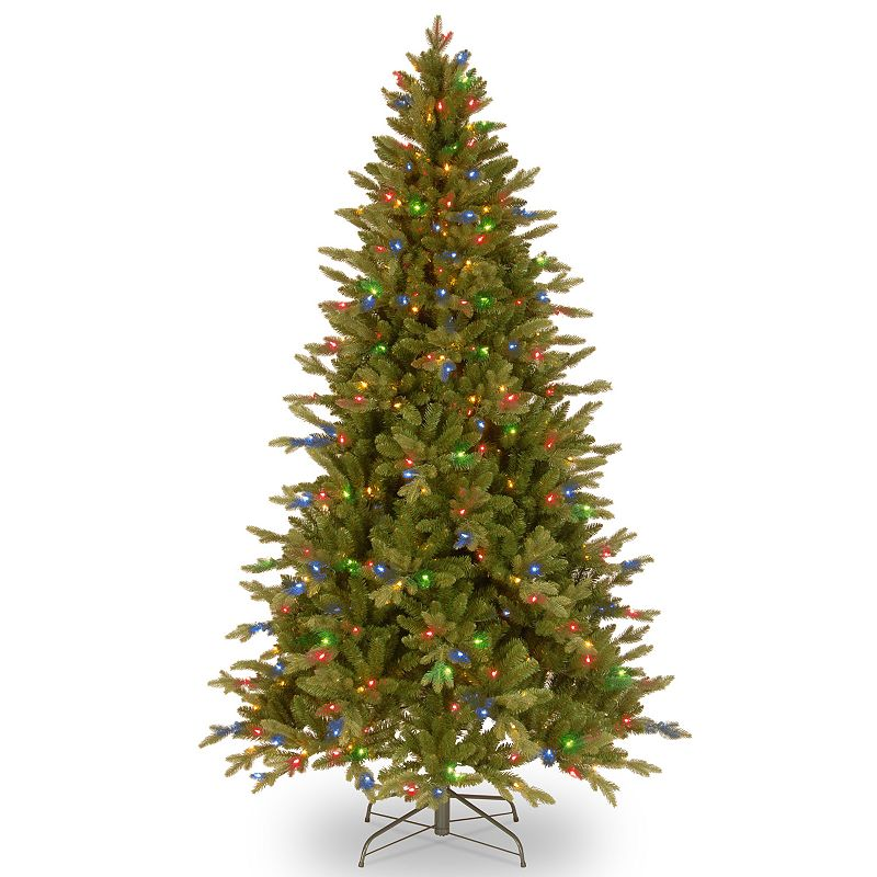 7.5-ft. Pre-Lit Multicolor ''Feel Real'' Avalon Spruce Artificial Christmas Tree