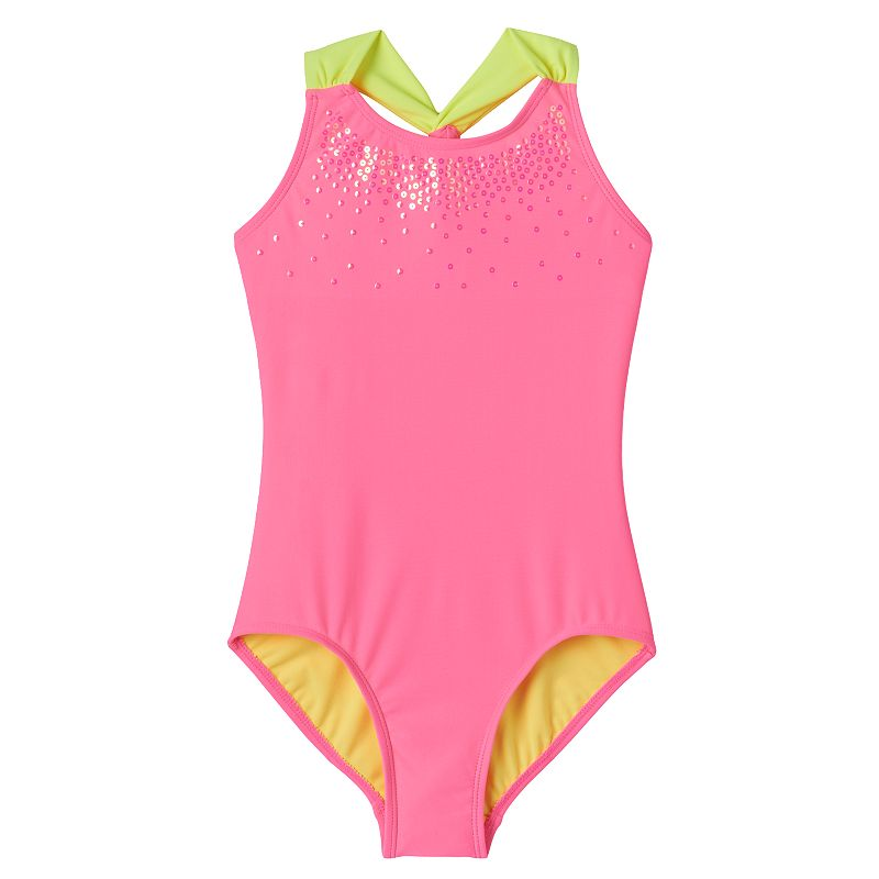 Girls 4-16 SO® Neon One-Piece Swimsuit