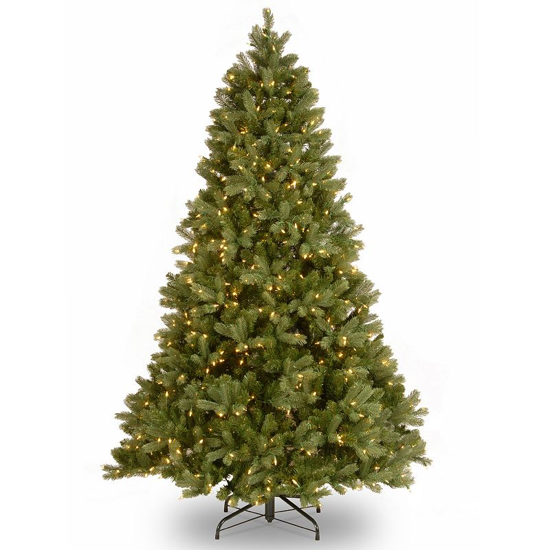 7-ft. Pre-Lit ''Feel Real'' Bayberry Spruce Artificial Christmas Tree