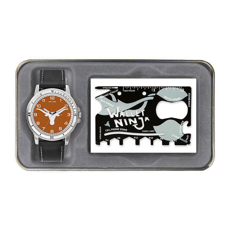 Sparo Texas Longhorns Watch and Wallet Ninja Set - Men