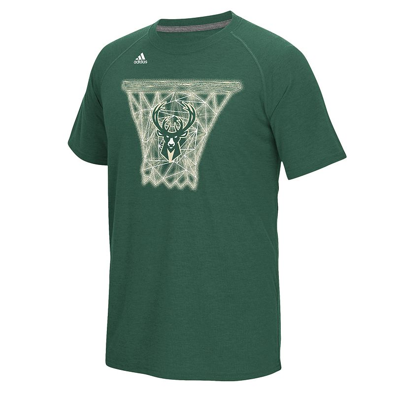 adidas Men's Milwaukee Bucks Net Web Tee