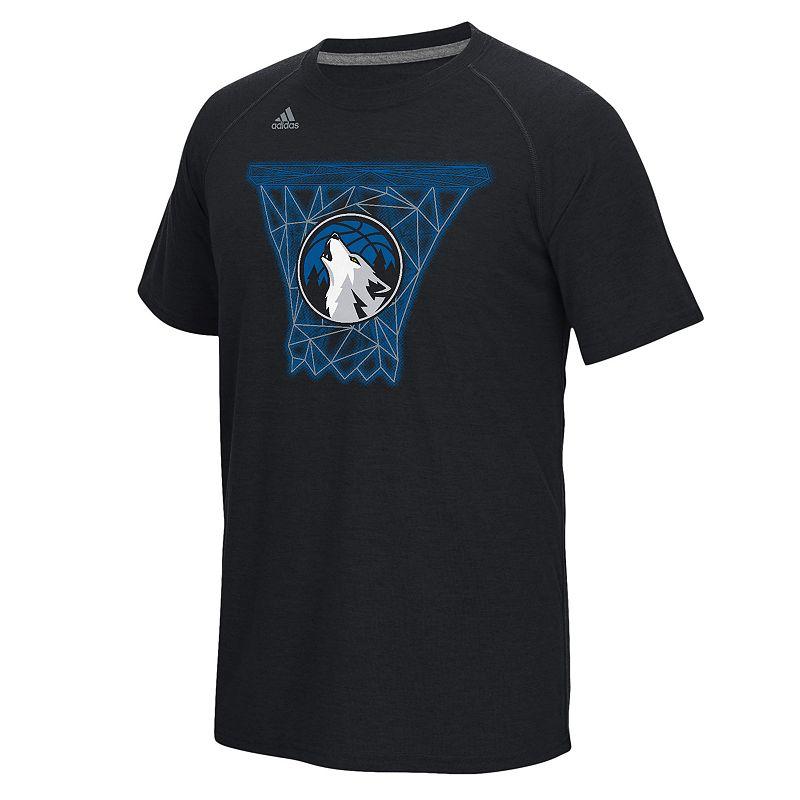 adidas Men's Minnesota Timberwolves Net Web Tee
