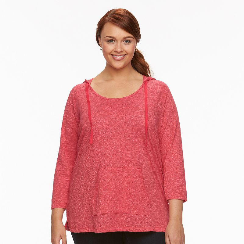 Plus Size SONOMA Goods for Life™ Hooded Raglan Top