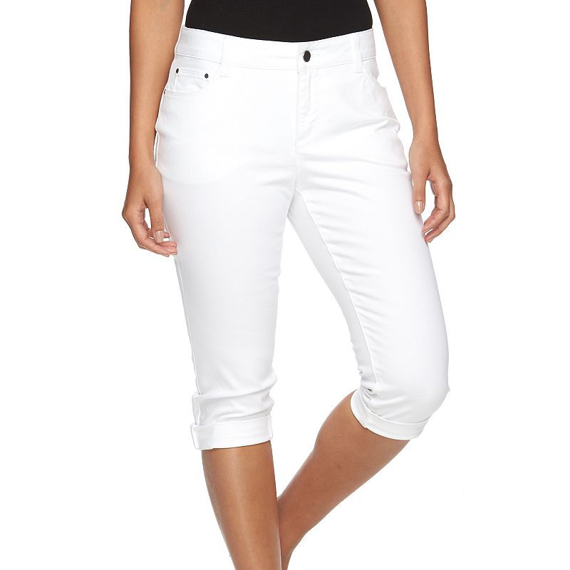 Petite Croft & Barrow® Classic Fit Denim Capris
