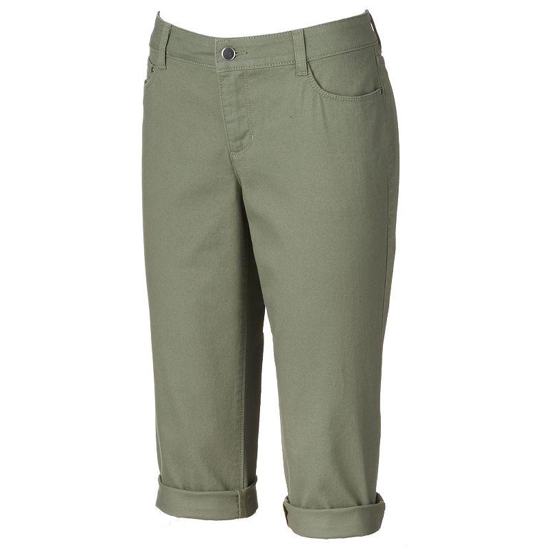 Petite Croft & Barrow® Classic Fit Denim Capris