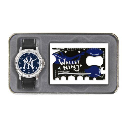 Sparo New York Yankees Watch and Wallet Ninja Set - Men