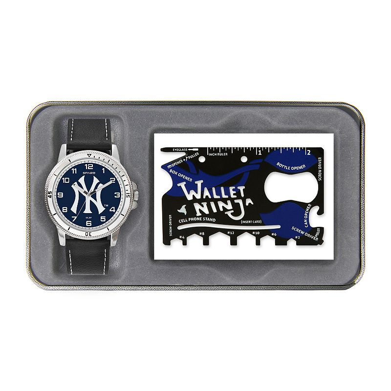 Sparo New York Yankees Watch and Wallet Ninja Set - Men