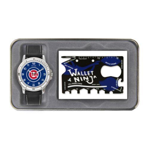 Sparo Chicago Cubs Watch and Wallet Ninja Set - Men