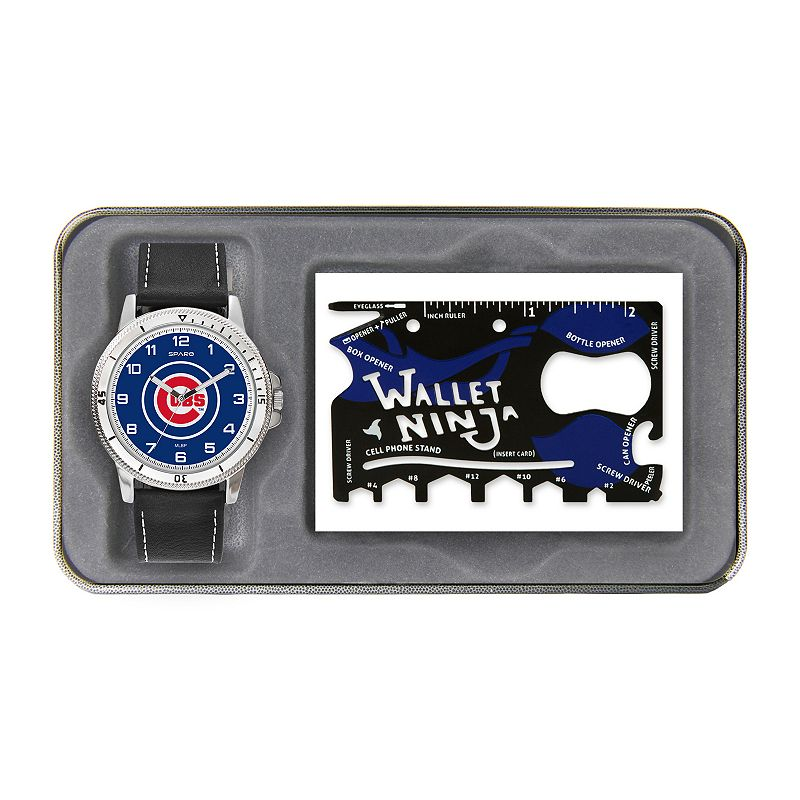 Sparo Chicago Cubs Watch and Wallet Ninja Set - Men