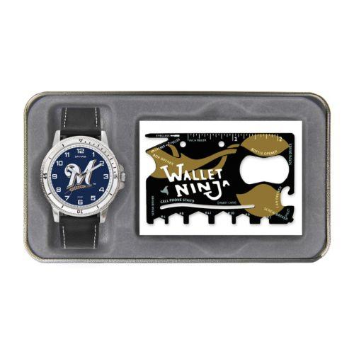 Sparo Milwaukee Brewers Watch and Wallet Ninja Set - Men