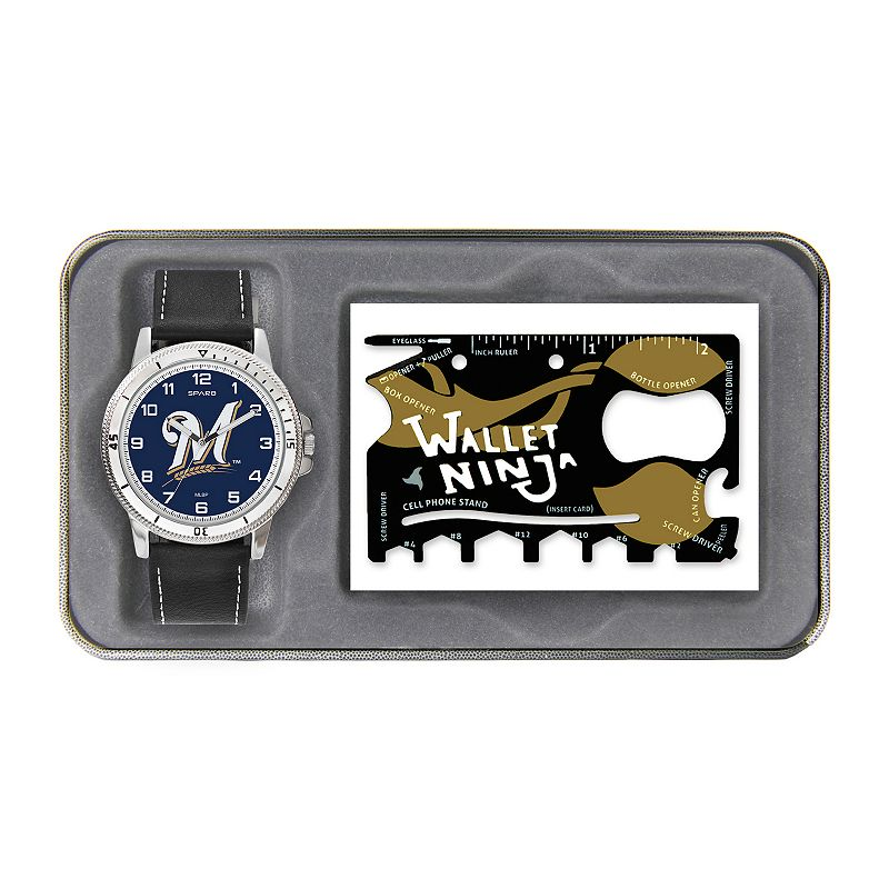 Sparo Milwaukee Brewers Watch and Wallet Ninja Set - Men