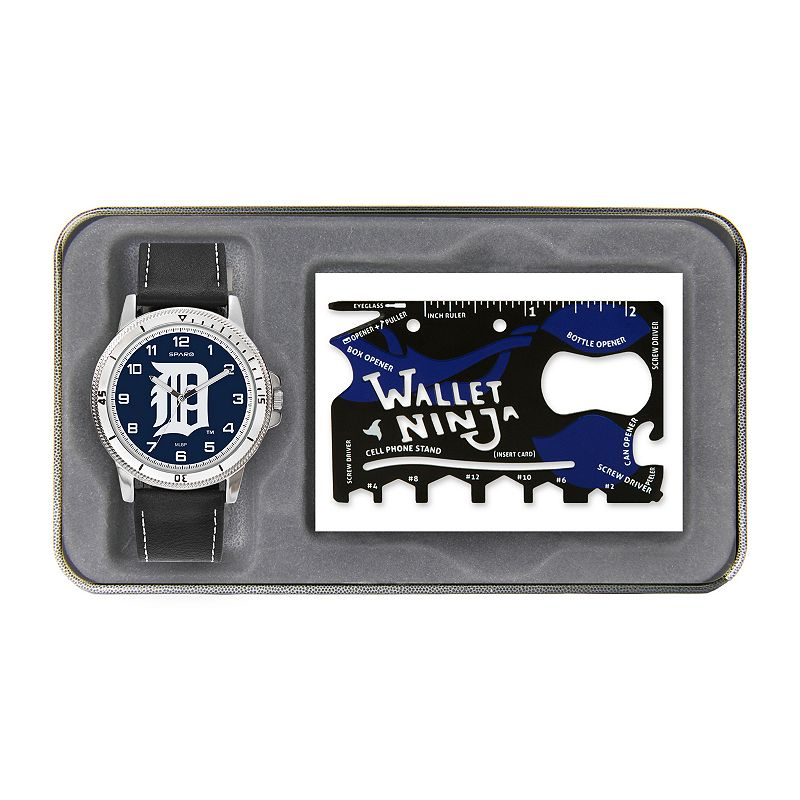 Sparo Detroit Tigers Watch and Wallet Ninja Set - Men