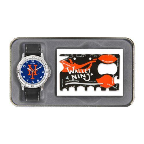 Sparo New York Mets Watch and Wallet Ninja Set - Men
