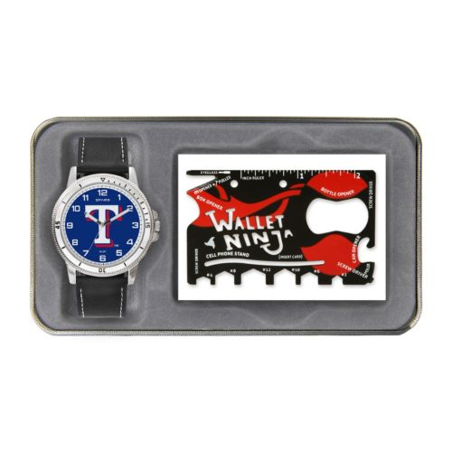 Sparo Texas Rangers Watch and Wallet Ninja Set - Men