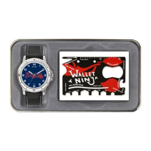 Sparo Atlanta Braves Watch and Wallet Ninja Set - Men