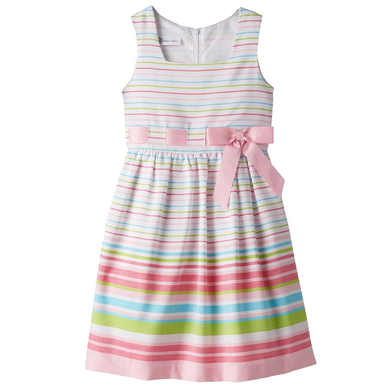 Girls 4-6x Jessica Ann Striped Linen Dress