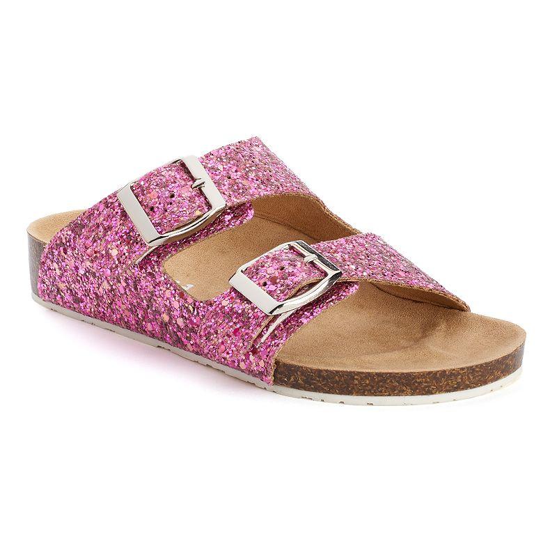 Mudd® Girls' Glitter Slide Sandals
