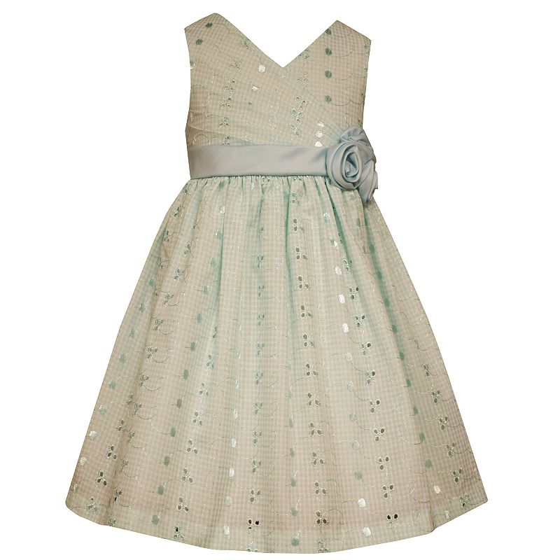 Girls 4-6x Bonnie Jean Sequin Eyelet Dress