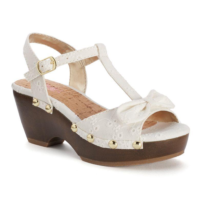 Candie's® Girls' T-Strap Wedge Sandals
