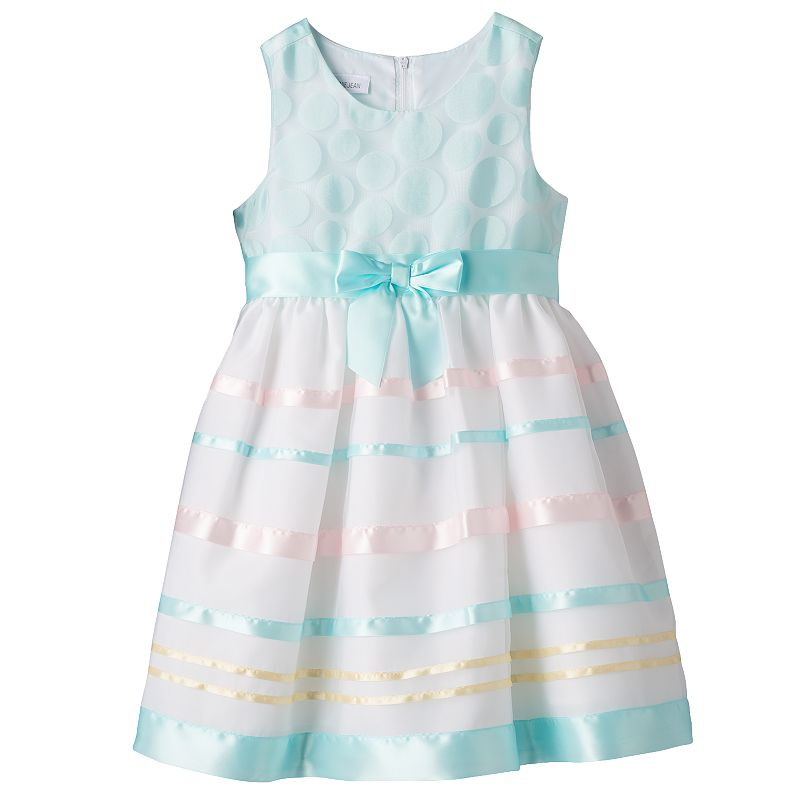 Girls 4-6x Jessica Ann Polka-Dot Ribbon Organza Dress