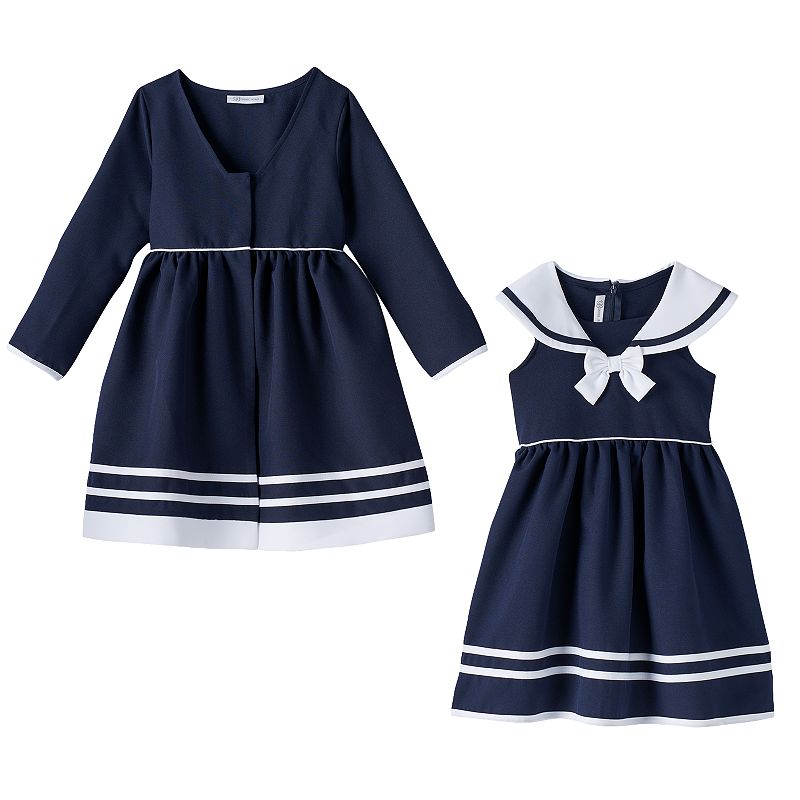 Girls 4-6x Jessica Ann Sailor Dress & Jacket Set