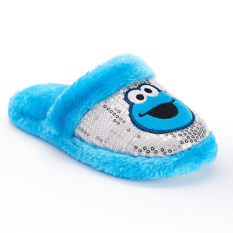 Sesame Street Cookie Monster Girls Slip-On Slippers
